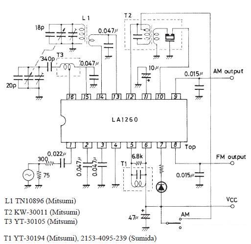 La1260 Fm If Mw Radio Receiver