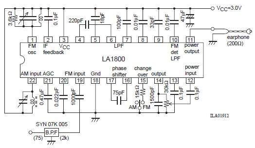 am fm portable radio circuit diagram using la1800