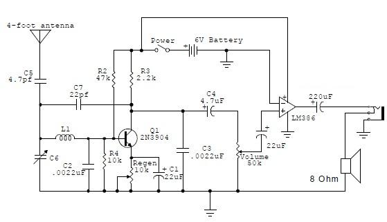 rf receiver circuit diagram the wiring diagram am regenerative receiver circuit diagram