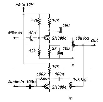 MetalDetectors 1 likewise 8687888990 blogspot further 87324 Sine Wave Square Triangle Wave Generator Using Transistors Op  s as well Secondhandsynth wordpress in addition 2 Channels Audio Mixer. on simple circuits sound