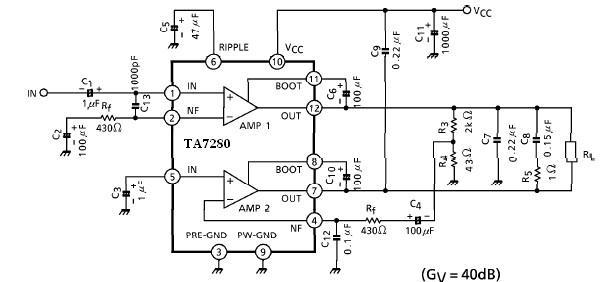 20 watt amplifier electronic project