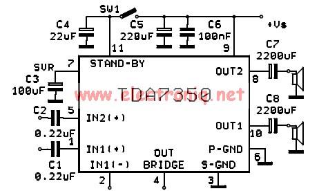 TDA7350 - Рабочие схемы для Вас.