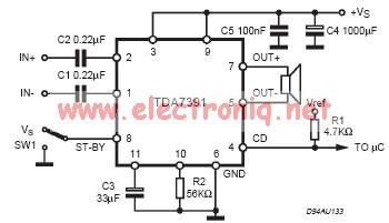 20 Watt Car Audio Amplifier Circuit Using Tda7391
