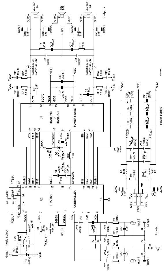 tda8927 audio system
