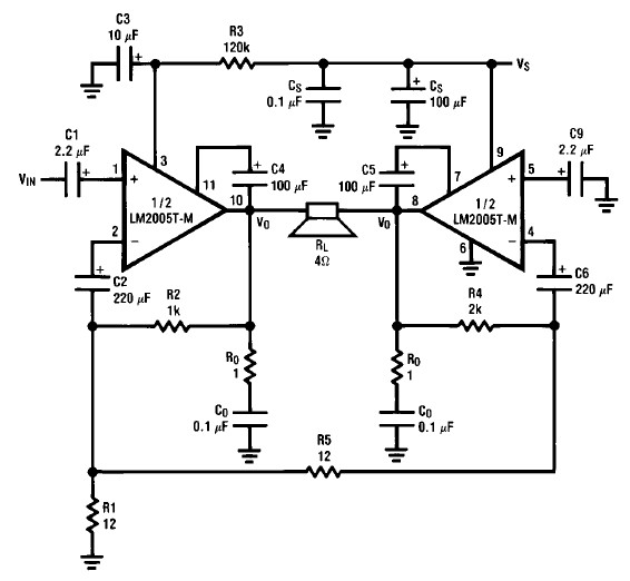 Vintage Radio Circuit Diagrams | Lm2005 20 Watt Amp Circuit Diagram Electronic Project