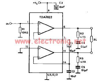 Tda2822 Power Amplifier