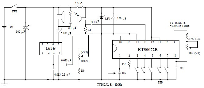 Voice changer circuit project designed using RTS0072B