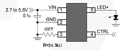 fan5646 blinking led indicator circuit