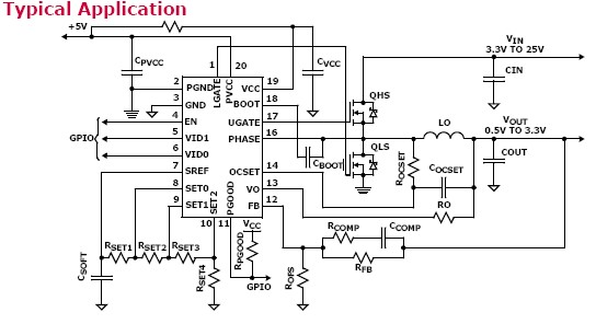 Isl62875 Single Phase Synchronous Buck Pwm Voltage Regulator