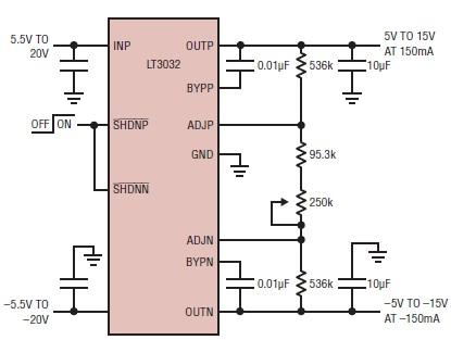 Strange Lt3032 Dual Voltage Linear Regulator Circuit Diagram 7 10 Wiring Database Xlexigelartorg