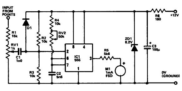 circuit using 555 timer tachometer circuit using 555 timer