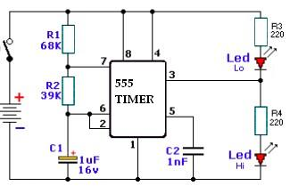 Transistor Tester as well 200TrCcts as well 555 Audio Tone besides Cheap Led Christmas Light Flasher Circuit Is Controlled By Audio further Sequential Random Led Flasher. on led flasher circuit diagram
