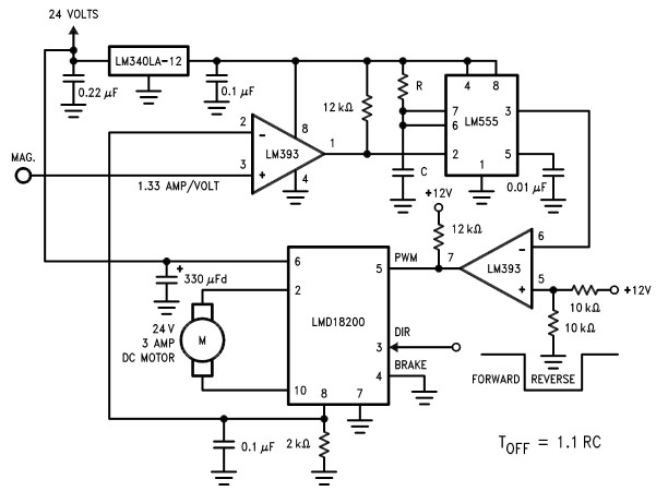 motor controller circuit diagram using lmd18200 motion controller