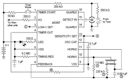 a5367 smoke detector circuit rh electroniq net Electronic Circuits Projects Diagrams PDF Simple Electronic Projects Circuit Diagram