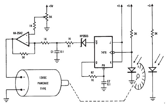 12 volts dc motor speed controller circuit diagram using encoder wheel