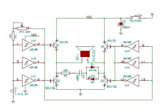 Ultrasonic Dog Bark Control Schematic