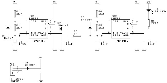 door minder using 555 timer circuit