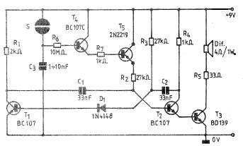 Admirable Electronic Bell Circuit Schematic Wiring Digital Resources Cettecompassionincorg