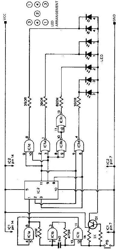 electronic dice schematic circuit rh electroniq net logic diagram of ic 7493
