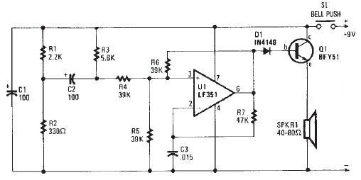 door buzzer circuit schematic