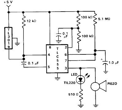 555 Timer Open Door Alarm Circuit on hall effect sensor voltage