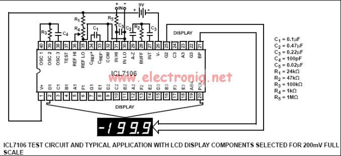 icl7106 icl7106 digital voltmeter. Black Bedroom Furniture Sets. Home Design Ideas
