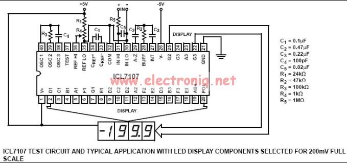 Icl7106 Icl7106 Digital Voltmeter