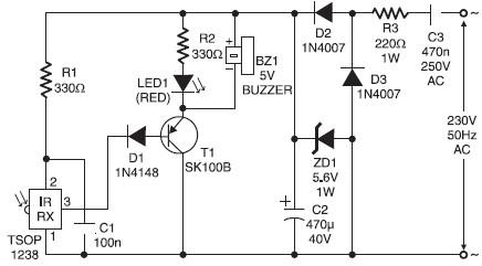 remote control tester circuitinfared remote control tester circuit