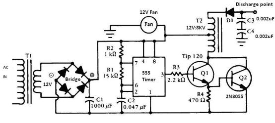 555 timer Negative ion generator circuit on negative ion generator evaporator cooler, jacob's ladder schematic, negative to positive voltage converter circuit, time delay schematic, negative ion generators diy,
