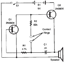 Simple Lie detector electronic circuit