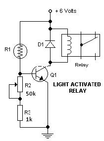 Light Dark Switch Activated Relay Circuits on dimmer circuit diagram