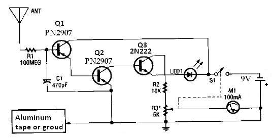circuit diagram of long range gold detectors work