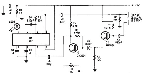 proximity detector electronic circuit diagram engineering With circuit 3v capacitance proximity switch circuits designed by david