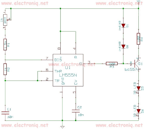 Remote control Jammer circuit diagram