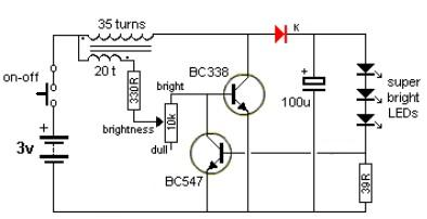 simple transistor white led driver led driver electronic project using transistors led drivers diagram at fashall.co