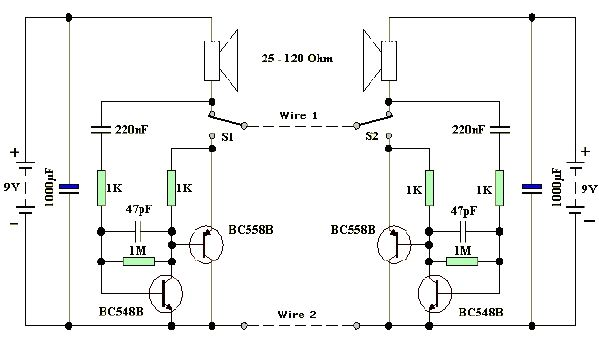 two wire intercom two wire intercom electronic circuit project electron intercom wiring diagram at cita.asia