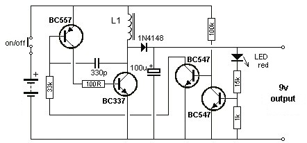 1 5 to 9 volts inverter schematic circuit  power supply