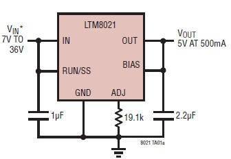 5V 500Ma Power Supply Circuit Diagram | 5 Volt Power Supply Circuit Project Using Ltm8021