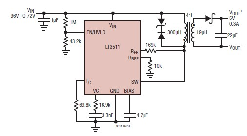 Lt3511 5 volts switching power supply circuit diagram project ccuart Choice Image