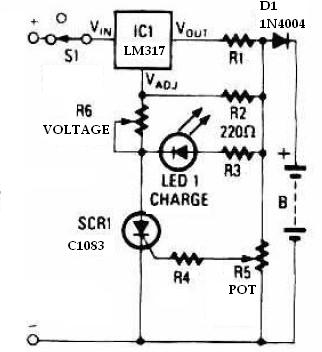 universal battery charger electronic project using lm317lm317 universal battery charger circuit diagram