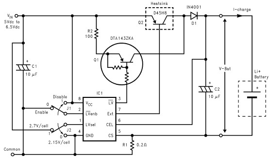 LM3622 Lithium Ion Charger circuit