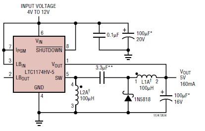 Ltc1174 5 Volt Power Supply Circuit Diagram Project