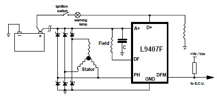 L9407f Car Voltage Regulator Circuit on voltage regulator wiring diagram motorcycle
