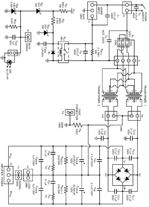 Power Amplifiers Power Supply on Switching Power Supply Schematic