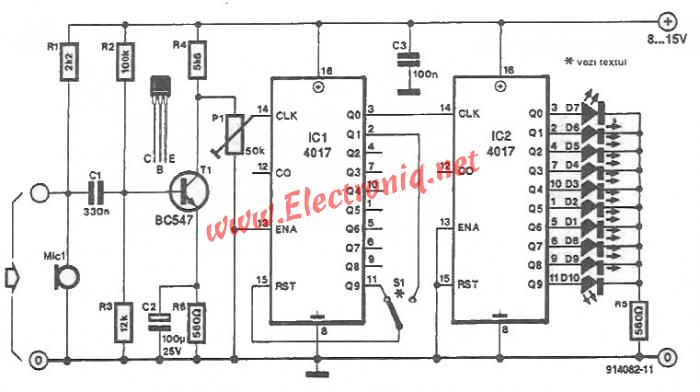 color lights organ circuit using cmos ics