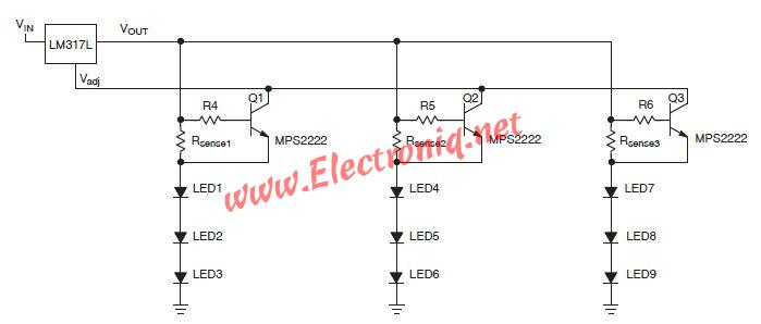 lm constant current source circuit for led driver, constant current source circuit diagram, voltage controlled constant current source circuit diagram