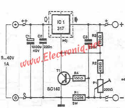 Adjustable 0 30v Power Supply further 351095804719 together with Lead Acid Batteries Charger Using Lm317 Voltage Regulator as well Lm317 Calculator Schematic Diagram also Electronica Analogica. on variable current limiter schematic with voltage power supply