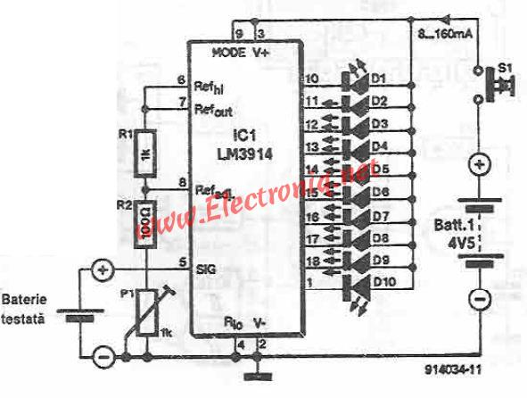 lm battery tester circuit diagram, circuit diagram