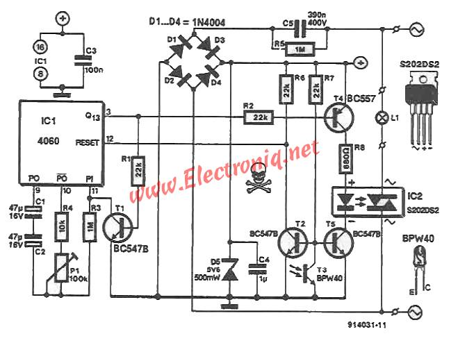 light sensitive switch circuit
