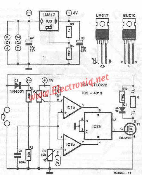 Solar panel stabilizer circuit diagram